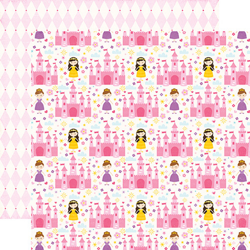 Perfect Princess Collection Fairy Tale Castle 12 x 12 Double-Sided Scrapbook Paper by Echo Park Paper