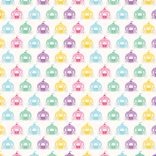 Perfect Princess Collection Royal Carriage 12 x 12 Double-Sided Scrapbook Paper by Echo Park Paper