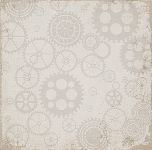 Work Hard, Play Hard Collection Working Gears 12 x 12 Double-Sided Scrapbook Paper by Carta Bella