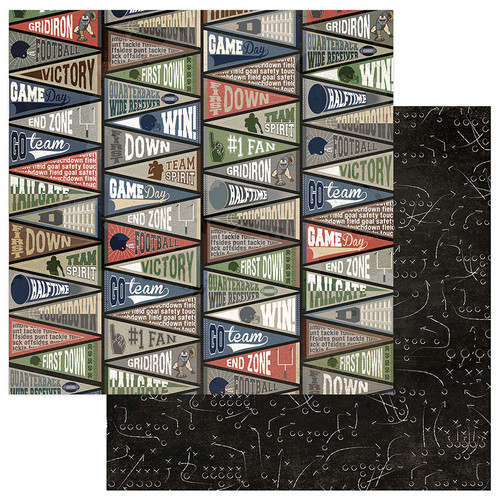 End Zone Collection No. 1 Fan 12 x 12 Double-Sided Scrapbook Paper by PhotoPlay