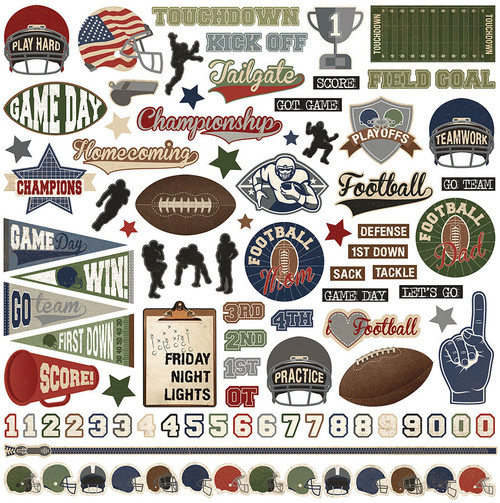 End Zone Collection Element Stickers 12 x 12 Scrapbook Sticker by PhotoPlay