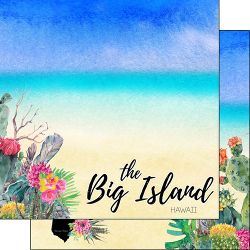 Getaway Collection Hawaii, The Big Island 12 x 12 Double-Sided Scrapbook Paper by Scrapbook Customs