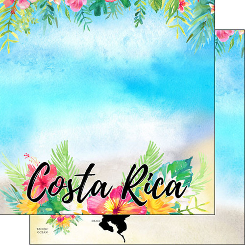 Getaway Collection Costa Rica 12 x 12 Double-Sided Scrapbook Paper by Scrapbook Customs