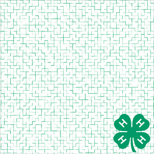 4-H Collection Puzzle Green Clover 12 x 12 Scrapbook Paper by It Takes Two