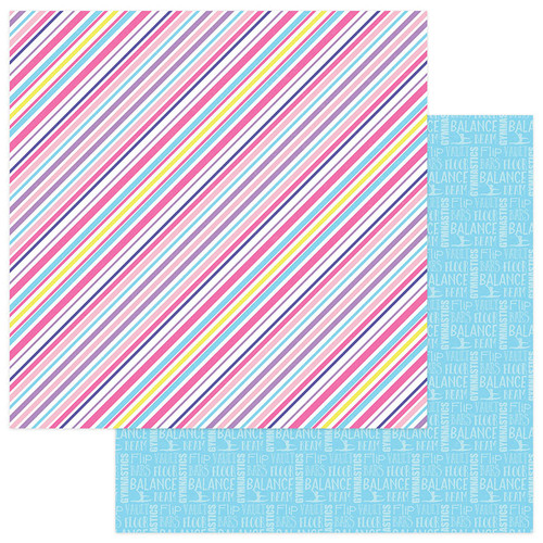 I Love I Love Gymnastics Collection I Love Gymnastics 12 x 12 Double-Sided Scrapbook Paper by PhotoPlay