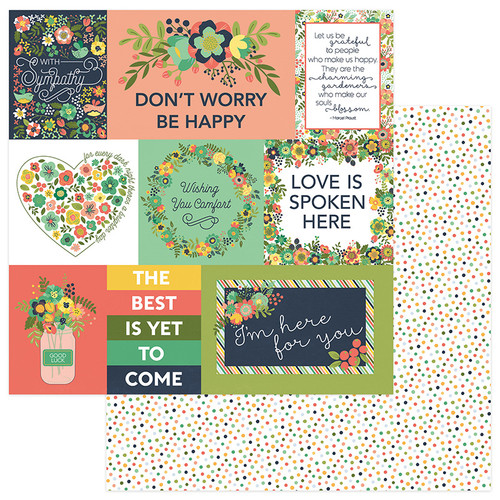Thinking Of You Collection Be Strong 12 x 12 Double-Sided Scrapbook Paper by PhotoPlay