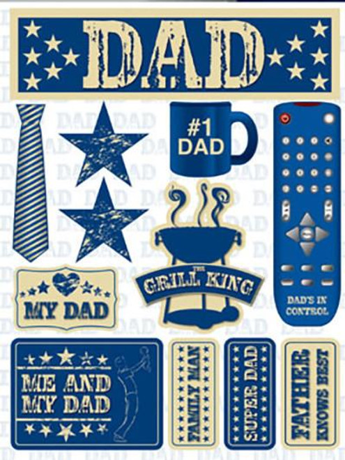 Signature Series Collection Dad 5 x 6 Scrapbook Embellishment by Reminisce