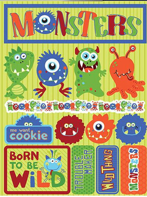Signature Series Collection  Monsters 5 x 6 Scrapbook Embellishment by Reminisce