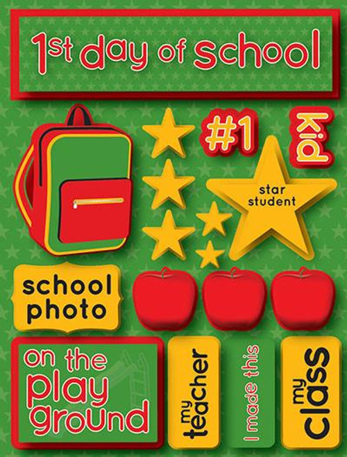 Signature Series Collection  1st Day of School 5 x 6 Scrapbook Embellishment by Reminisce
