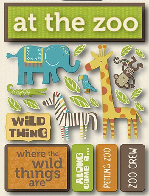 Signature Series Collection  At The Zoo 5 x 6 Scrapbook Embellishment by Reminisce