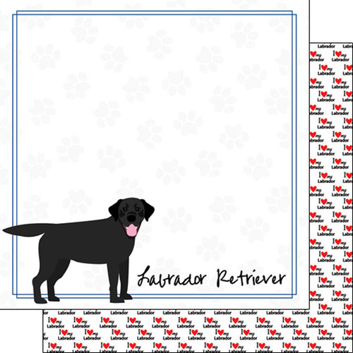 Puppy Love Collection Labrador Retriever 12 x 12 Double-Sided Scrapbook Paper by Scrapbook Customs
