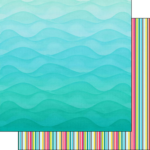 Snorkeling Adventure Collection Snorkeling 12 x 12 Double-Sided Scrapbook Paper by Scrapbook Customs