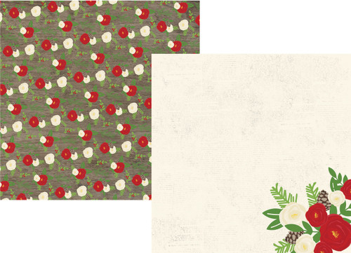 Very Merry Christmas Collection Season's Greetings 12 x 12 Double-Sided Scrapbook Paper by Simple Stories