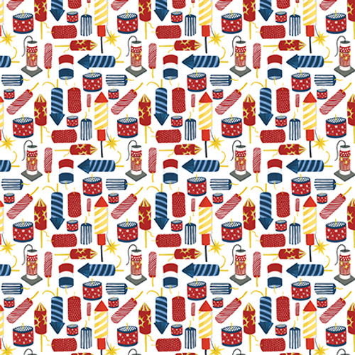Celebrate America Collection Firecrackers 12 x 12 Double-Sided Scrapbook Paper by Echo Park Paper