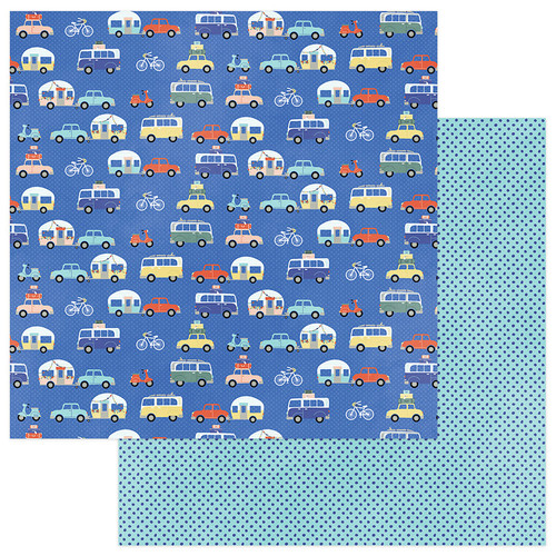 Let's Go! Collection Road Trip 12 x 12 Double-Sided Scrapbook Paper by Photo Play Paper