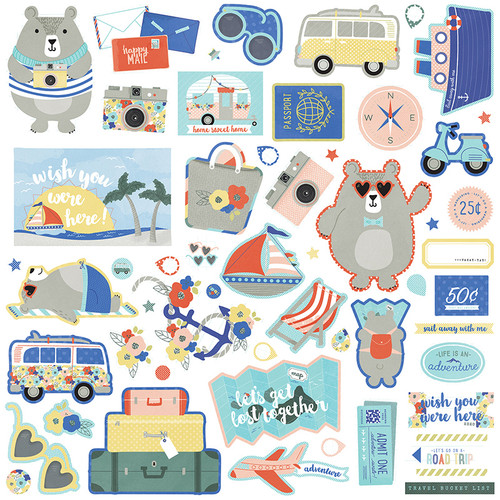 Let's Go! Collection Let's Go! 12 x 12 Scrapbook Element Sticker Sheet by Photo Play Paper