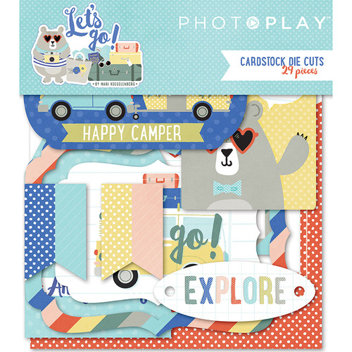 Let's Go! Collection Let's Go! 4 x 4 Scrapbook Cardstock Die Cuts by Photo Play Paper