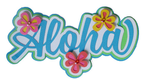 Aloha 3 x 9 Laser Cut Scrapbook Embellishment by SSC Laser Cuts