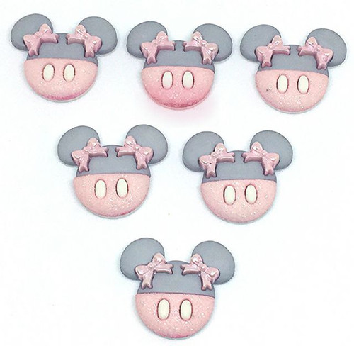 Disney Dress It Up Baby Minnie Mouse Scrapbook Button Embellishments by Jesse James Buttons
