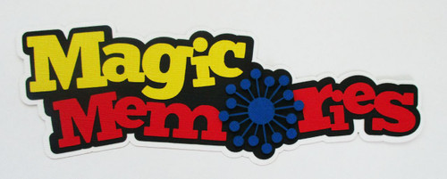 Disneyana Collection Magic Memories Fully-Assembled 3 x 8 Title by SSC Laser Designs (original design by Miss Kate Cuttables)