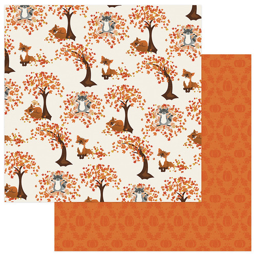 Fall Breeze Collection Leaf Play 12 x 12 Double-Sided Scrapbook Paper by Photoplay Paper