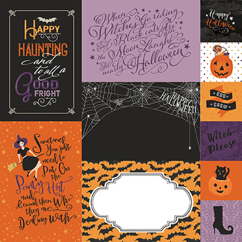 Bewitched Collection Journaling Cards 12 x 12 Double-Sided Scrapbook Paper by Echo Park Paper