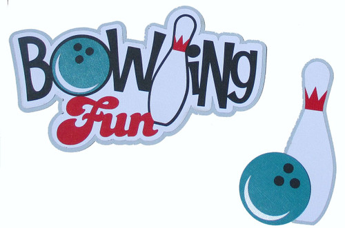 Bowling Fun 2-Piece 5 x 7.5 Fully-Assembled Laser Cut Scrapbook Embellishment by SSC Laser Designs
