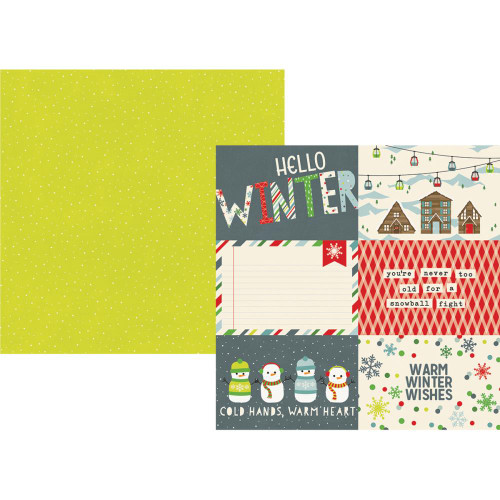 Sub Zero Collection 4 x 6 Horizontal Elements 12 x 12 Double-Sided Scrapbook Paper by Simple Stories