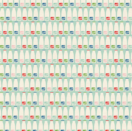Homegrown Collection Milk Bottles 12 x 12 Double-Sided Scrapbook Paper by Echo Park Paper