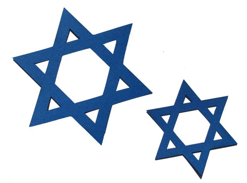"Star of David 4"" & 2.5"" 2-Piece Set Laser Cut Scrapbook Embellishment by SSC Laser Designs"