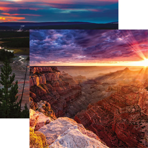 National Parks Collection Grand Canyon 12 x 12 Double-Sided Scrapbook Paper by Reminisce