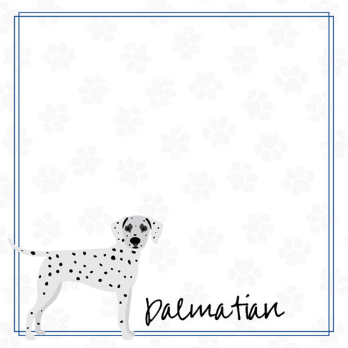 Puppy Love Collection Dalmation 12 x 12 Double-Sided Scrapbook Paper by Scrapbook Customs