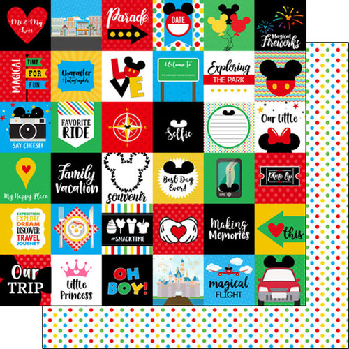 Magical Day of Fun Collection Magical Cut-Outs  12 x 12 Double-Sided Scrapbook Paper by Scrapbook Customs