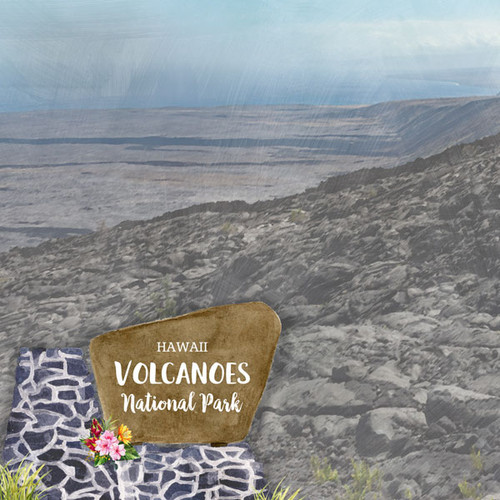 National Park Collection Hawaii Volcanoes National Park 12 x 12 Double-Sided Scrapbook Paper by Scrapbook Customs