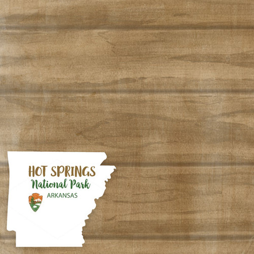 National Park Collection Hot Springs National Park 12 x 12 Double-Sided Scrapbook Paper by Scrapbook Customs