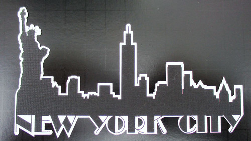 New York City Skyline 3 x 5.5 Laser Cut Scrapbook Embellishment by SSC Laser Designs