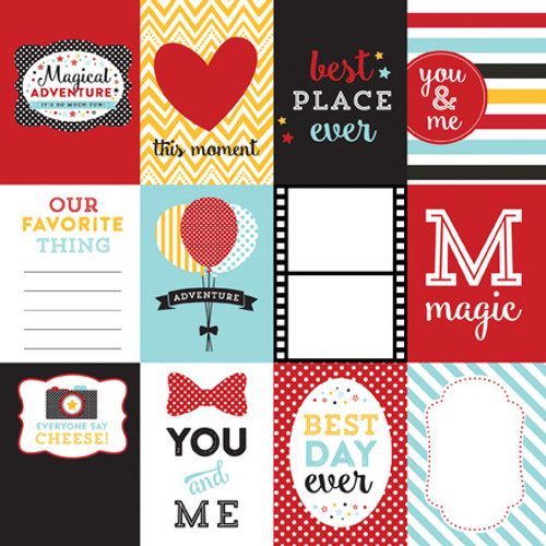 Magical Adventure Collection 3 x 4 Journaling Cards 12 x 12 Double-Sided Scrapbook Paper by Echo Park Paper