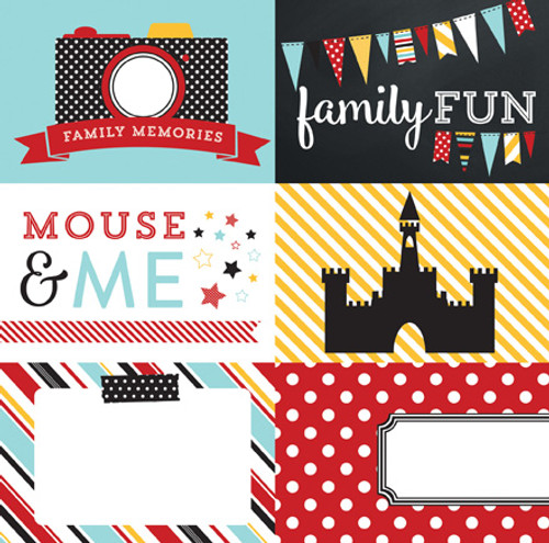 Magical Adventure Collection 4 x 6 Journaling Cards 12 x 12 Double-Sided Scrapbook Paper by Echo Park Paper