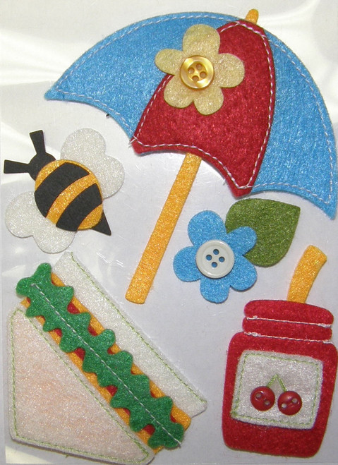 Picnic Felt Scrapbook Embellishment by Mark Richards USA