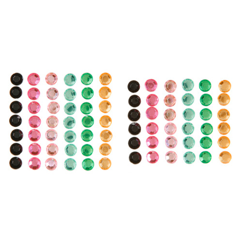 Rainforest Multicolor 7mm Self-Stick Gems by Darice - Pkg. of 78
