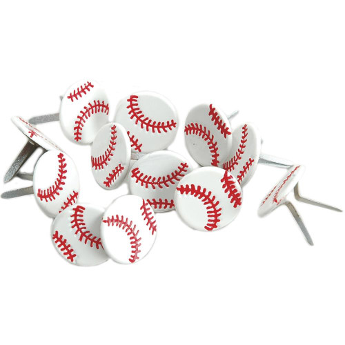 Sports Balls Collection Baseball Brads by Eyelet Outlet - Pkg. of 12