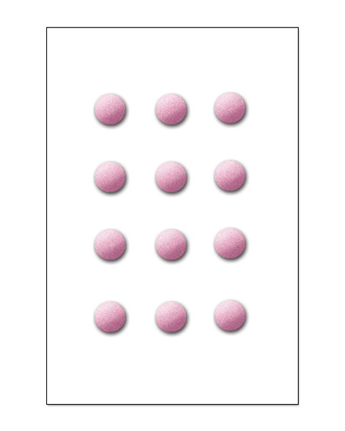 Pink Glitter Brads by Creative Imagination - Pkg. of 12