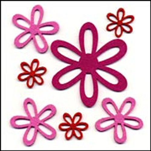 Fiesta Felt Collection Fiesta Felt Amor Self-Adhesive Flowers - Pkg. of 7