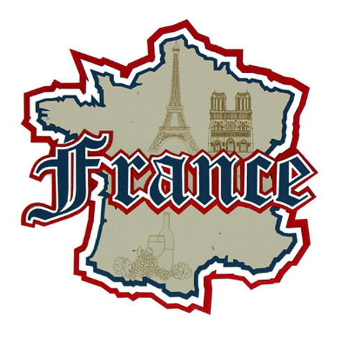 France Country Map Laser Cut by Paper Wizard