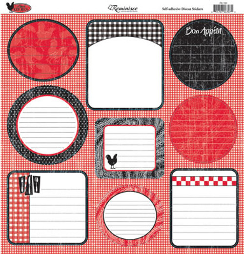 French Kitchen Collection 12 x 12 Sticker Sheet by Reminisce