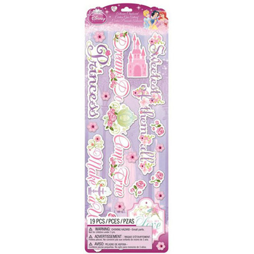 Disney Princess Collection Glittered Princess Chipboard by EK Success