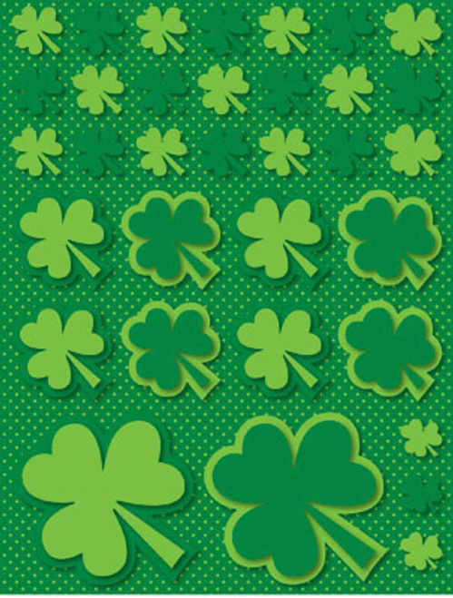 Green Day Collection Shamrock Clover Scrapbook Embellishment by Reminisce