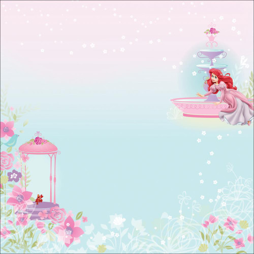 Disney The Little Mermaid Collection Princess Ariel Glitter 12 x 12 Scrapbook Paper by EK Success