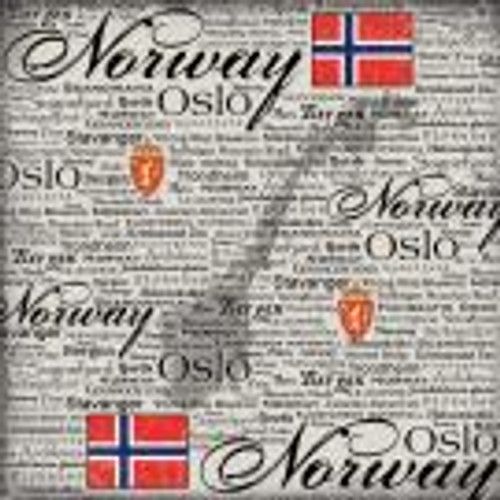 Scratchy Collection Norway 12 x 12 Scrapbook Paper by Scrapbook Customs
