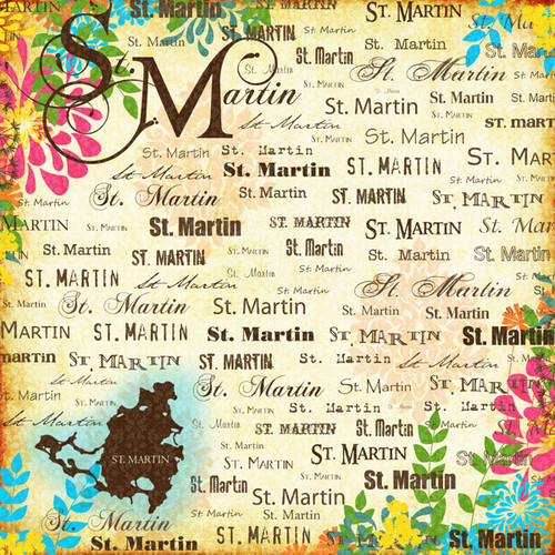 Paradise Collection St. Martin 12 x 12 Scrapbook Paper by Scrapbook Customs